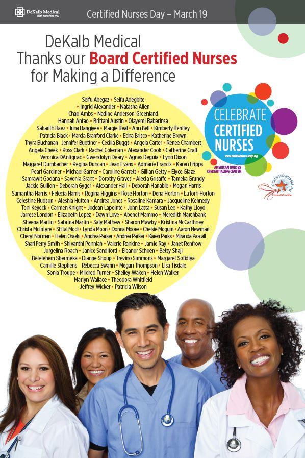 Certified nurses flyer