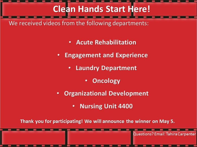 Clean hands departments image