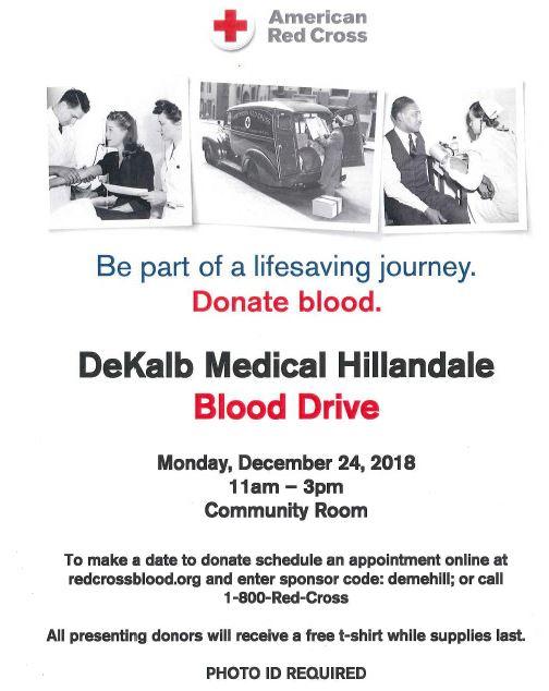 blood drive hillandale